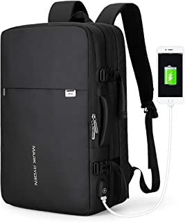 Mark Ryden 23L/40L Business Carry-on Travel Backpack, Lightweight Flight-Approved Expandable Weekender Bag with USB Chargi...