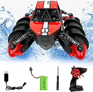 Remote Control Car Toys for 6-10 Year Old Boys Girls RC Car for Kids Remote Control Boat Waterproof RC Boat Stunt Car for ...