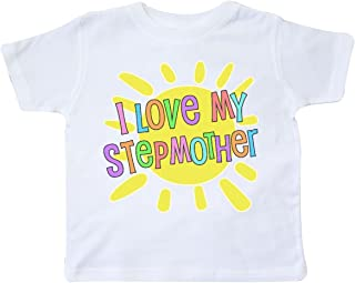 inktastic I Love My Stepmother- Sun and Rainbow Letters Toddler T-Shirt