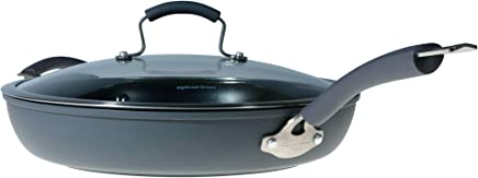 Epicurious Hard Anodized Nonstick 13-Inch Covered Fry Pan