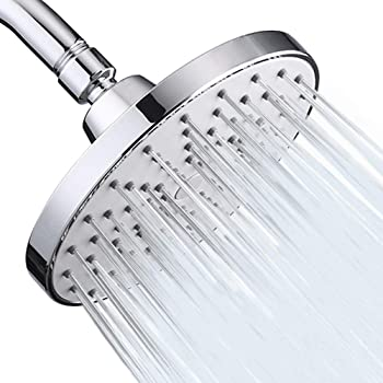 Aisoso High Pressure Shower Head 6 Inch Rain Modern Luxury Rainfall Showerhead Chrome Plated for Easy Replacement Your Bathroom Shower Heads