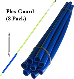 "Keyfit Tools Flex Guard Driveway Marker Mount (8 Pack) Reinforced Protective Sleeve Fits Over All Standard 5/16"" Markers -by Far The Best Way to Set Driveway Plow Poles Reflectors Stakes Curb Markers"