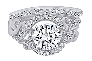 0.52 Carat Round Shape Natural Diamond Engagement Promise Ring 14K Solid Gold