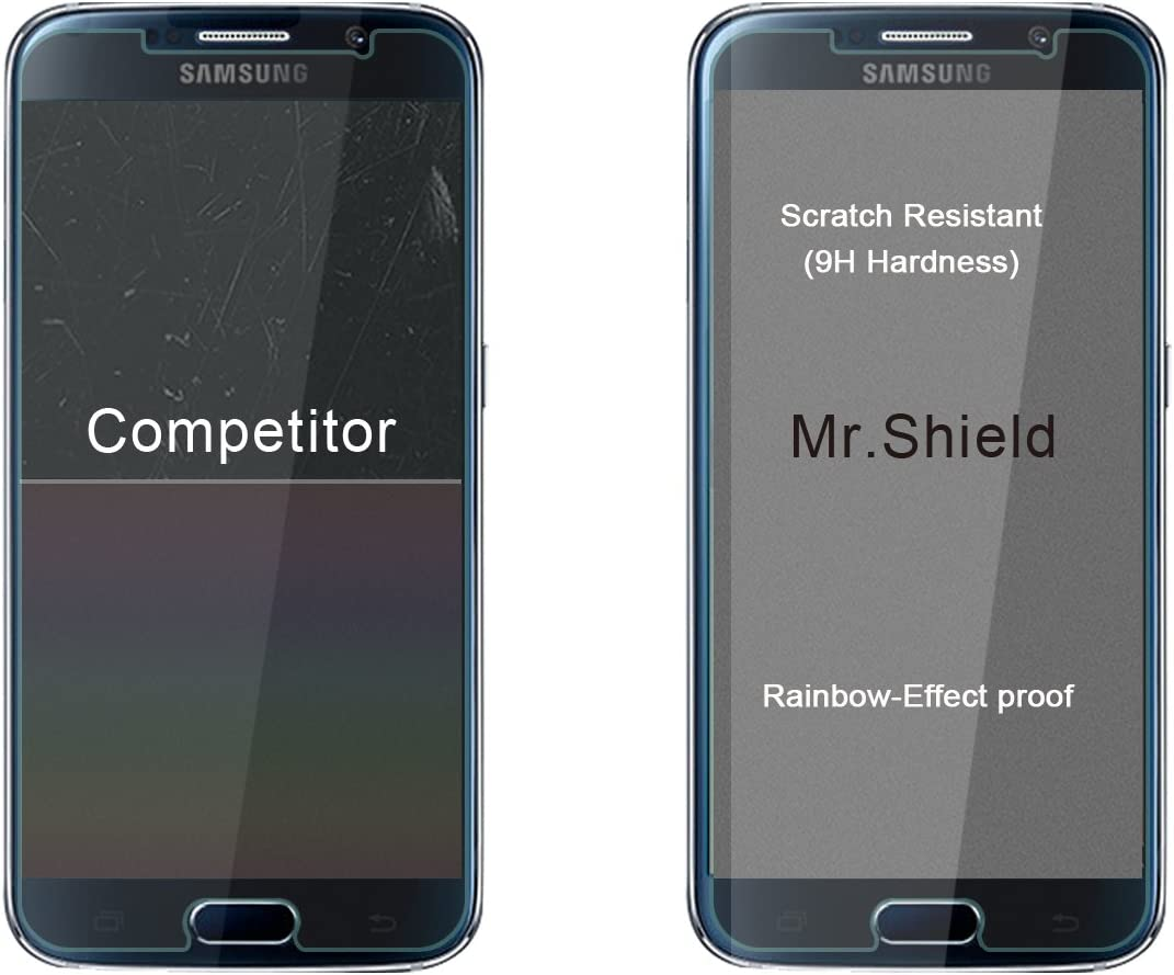 [3-PACK]- Mr.Shield Designed For Samsung Galaxy S6 [Tempered Glass] Screen Protector [0.3mm Ultra Thin 9H Hardness 2.5D Round Edge] with Lifetime Replacement