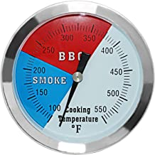 3 1/8 inch Charcoal Grill Temperature Gauge, Accurate BBQ Grill Smoker Thermometer Gauge Replacement for Oklahoma Joe's Sm...
