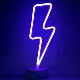 ZWOOS Neonlicht für Schlafzimmer - LED Leuchtschilder angetrieben von Batterie oder USB - Neonschild für Wand - Leuchtrekl...