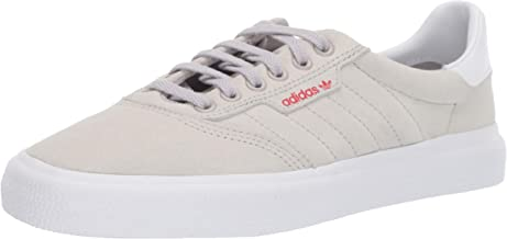 adidas Originals 3MC Sneaker, Grey/White/Scarlet, 6 M US