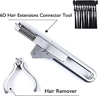 JYZ 6D Hair Extension Tool Machine, No-Trace Quick Kit Wig Connector/Wig Extension Tools Professional Salon Equipment, Silver