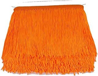 Heartwish268 Fringe Trim Lace Polyerter Fibre Tassel 6inch Wide 10 Yards Long for Clothes Accessories Latin Wedding Dress DIY Lamp Shade Decoration Black White Red(Orange Red)