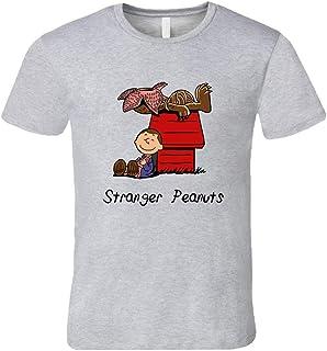 YUANLI Stranger Peanuts Funny Stranger Things TV - Camiseta corta de dibujos animados