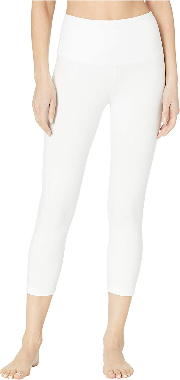 Lysse Cropped Cotton Leggings White SM 22