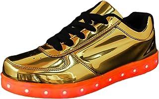 Funmoon - Zapatos de piel sintética para hombre, color marrón