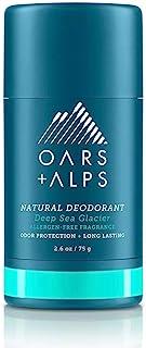 Oars + Alps Natural Deodorant , Allergen-Free Fragrance, Aluminum-Free, Alcohol-Free, Fights Odor. 2.6 oz, Deep Sea Glacier Scent