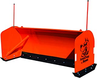 Buyers Products 2603108 ScoopDogg Skid Steer Snow Pusher, 8 Foot Wide, Orange