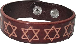 star of david leather bracelet