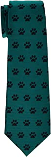 Retreez Doggie Puppy Paws Woven Microfiber Boy's Tie - 8-10 years - Various Colors