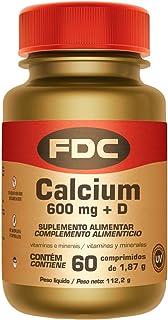 Calcio 600 mg + Vitamina D para Fortalecer los Huesos y Músculos. 60 Cápsulas
