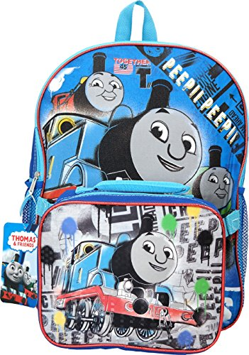 Licensed Thomas The Train Thomas The Train 16' Backpack with Lunch Bag, One_Size, Blue
