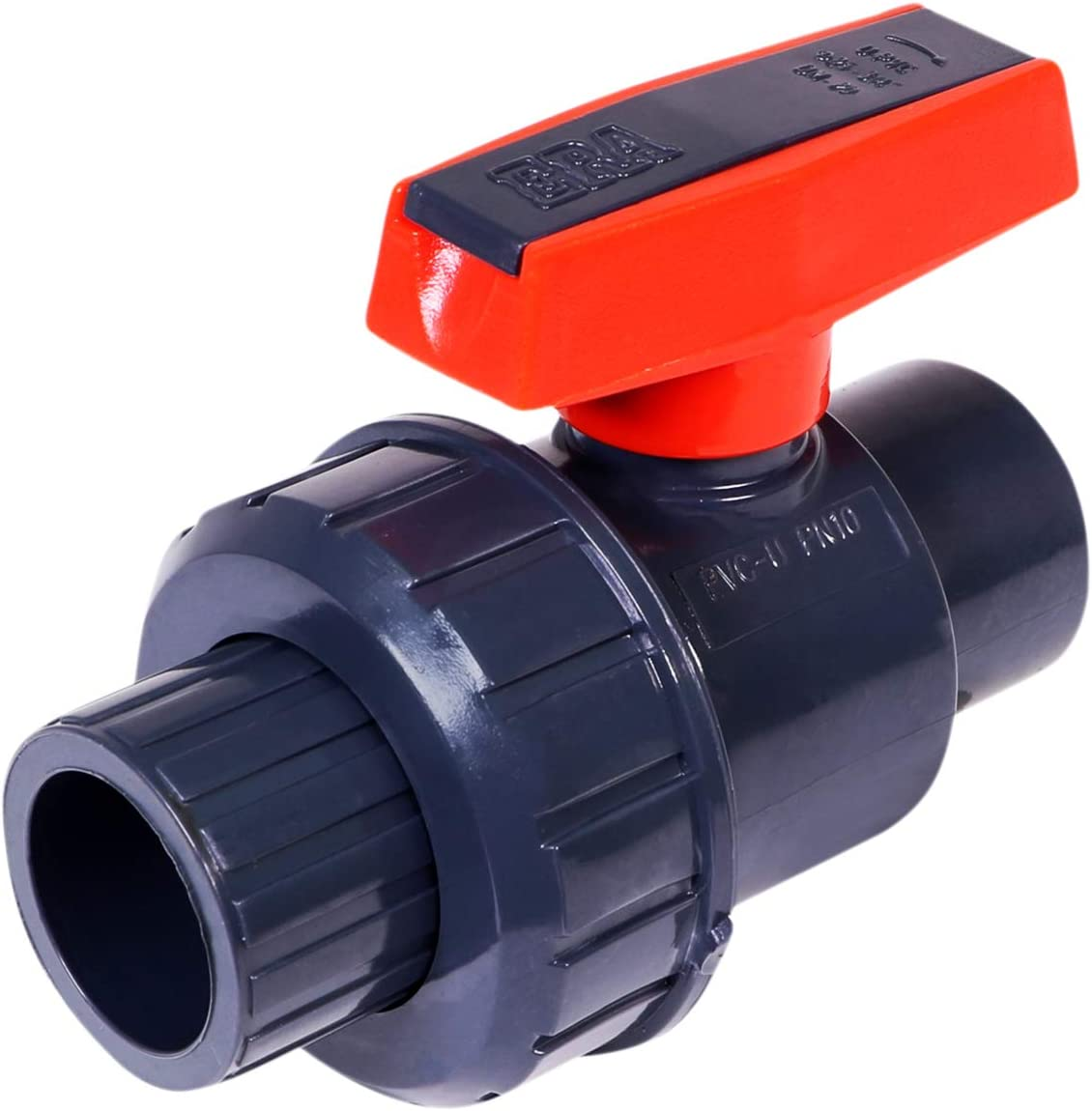 Midline Max 79% OFF Valve Heavy Duty PVC Union Ball Single At the price Pink Handle