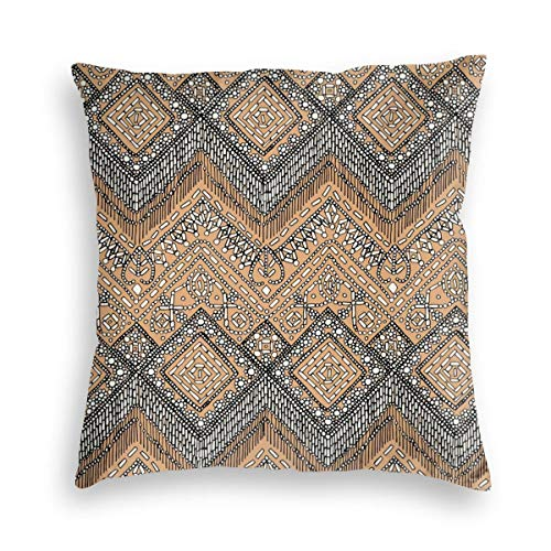 Beaded Chevron Apricot Velvet Soft Decorative Square Throw Pillow Covers Cushion Case Pillowcases for Sofa Chair Bedroom Car 18X18inch