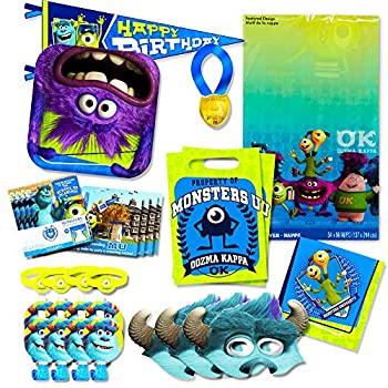 Monsters Inc Party Supplies Ultimate Set -- Plates Cups Napkins Table Cover Stickers and More