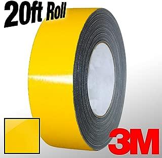 VViViD 3M 1080 Bright Yellow Gloss Vinyl Detailing Wrap Pinstriping Tape 20ft Roll (2 Inch x 20ft)
