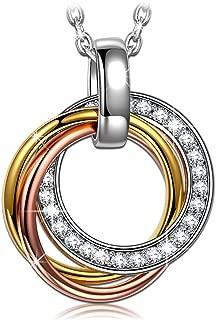 Princesa Nina Life Collar de Plata Esterlina 925, Joyas Chapadas en Oro Blanco/Oro Rosa
