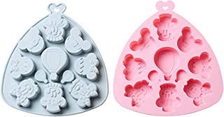 9 Grid Silicone Cake Chocolate Mold,2PCS Complementary food candy, ice cubes, snacks, DIY making multi-purpose epoxy mold