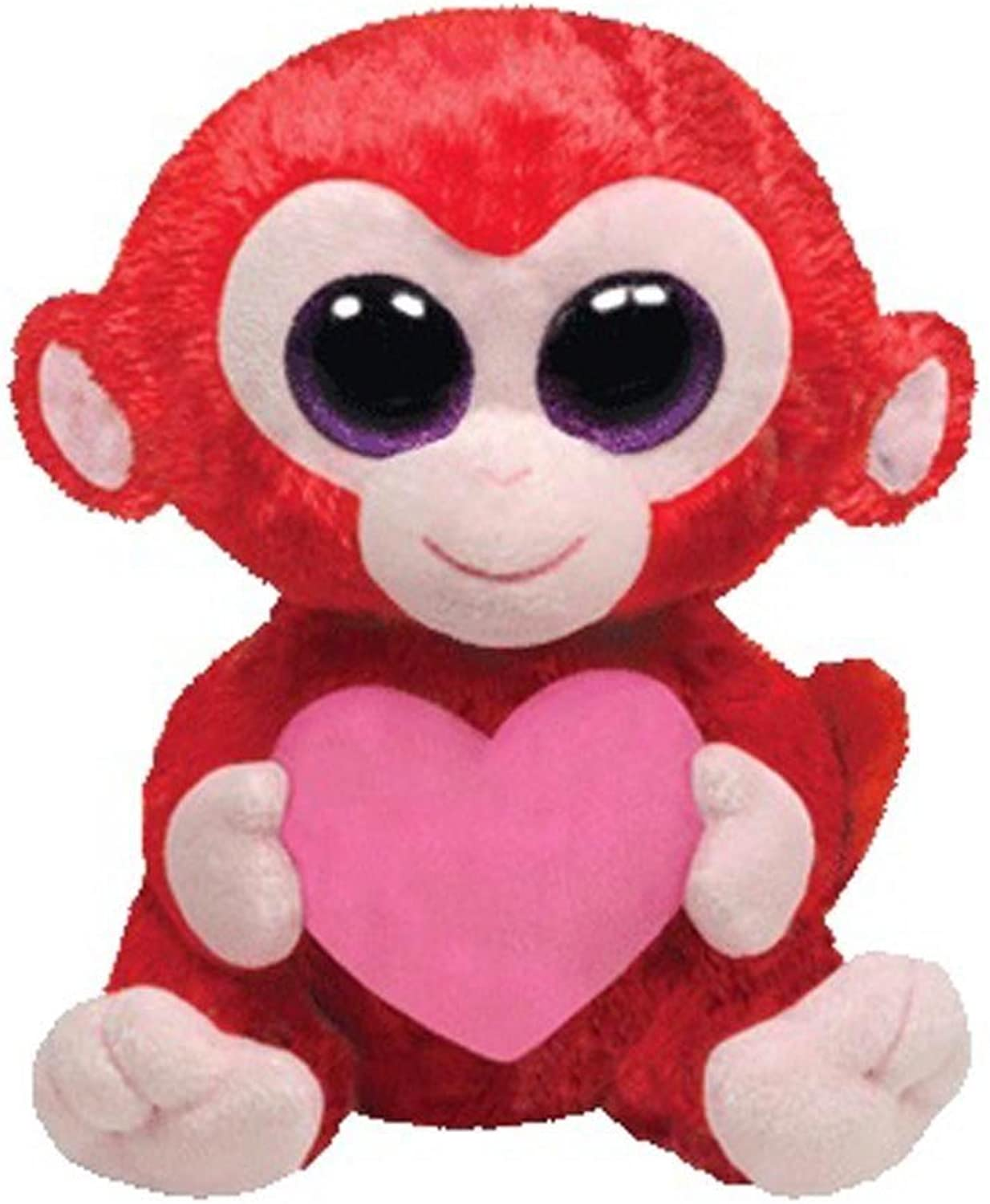 Ty Beanie Boos  Charming the Monkey With Heart 10  BUDDY
