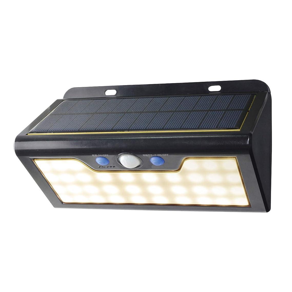 ポーン交差点ウイルスELPA エルパ LEDセンサーウォールライト(大) 電球色 場所を選ばないソーラー式 明暗人感センサー&常夜灯切替可能 安心な防水タイプ ESL-K411SL(L)