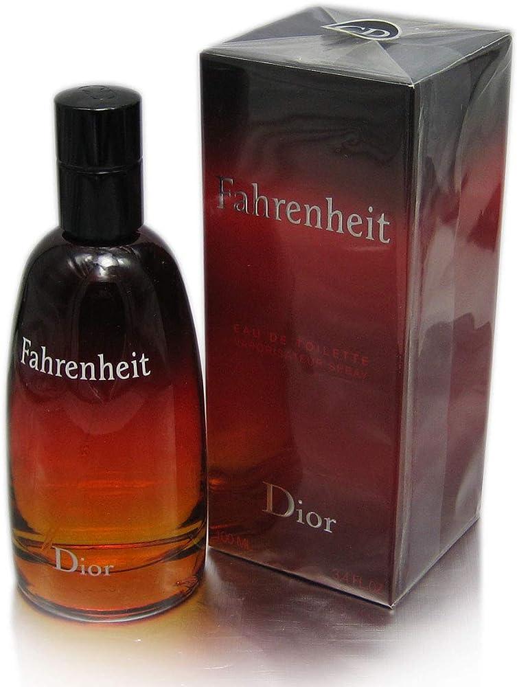 Christian dior fahrenheit, eau de toilette,profumo per uomo, 100 ml 2097