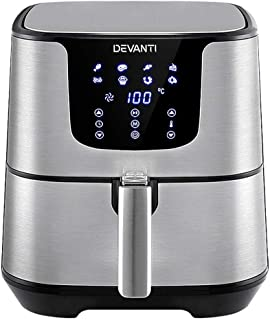 Devanti Air Fryer 7L LCD Fryers Healthy Oil Free Multifunctional Cooker Airfryer Kitchen Convection Machine Oven for Bakin...
