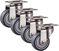 TPR stille zwenkwielen, zwenkwielen belastbaar tot 200 kg, meubelwielen met remmen, lichte mechanische reservewielen 1,5/2...