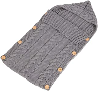 XFentech Infant Sleeping Bag - Outdoor Casual Baby Knit Button SleepingSacks 70CM/0~1 Years,Light Gray