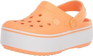 Crocs Kids' Crocband Clog   Comfortable Slip-On Platform Shoes, Cantaloupe, 3 UK