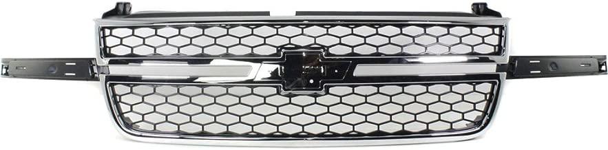 Grille for Chevrolet Silverado 1500 P/U 03-07 Honeycomb Plastic Chrome Shl/Textured Black Insert