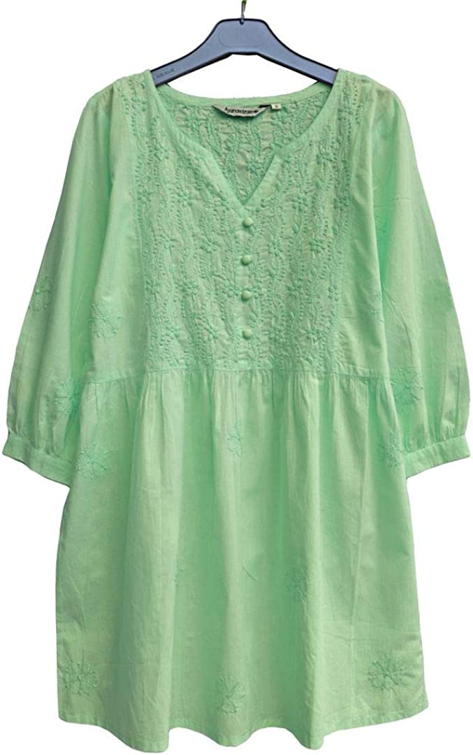 Megha Pure Cotton Hand Charlotte Mall Embroidered Tunic Max 50% OFF and Top Blouse Printed