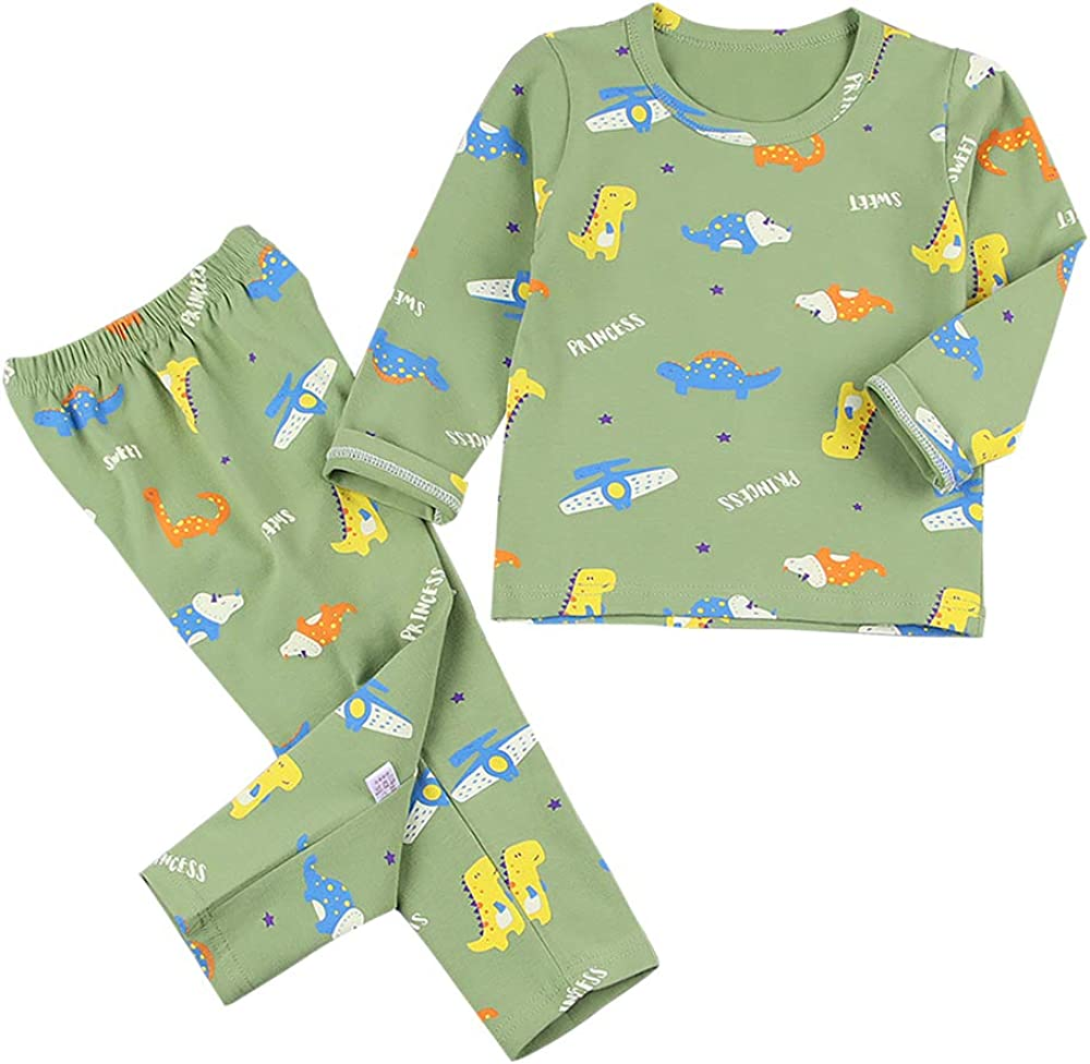Baby Boys Girls Clothes Set Organic Cotton Soft Long Sleeve Top and Pants Outfit Two Piece