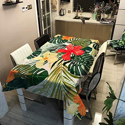 Oukeep Tischdecke Aus Polyester Mit 3D-Blumenserie wasserdichte, Ölbeständige Und Schmutzabweisende Tischdecke Ist Nicht Leicht Zu Verblassen Und Leicht Zu Reinigen