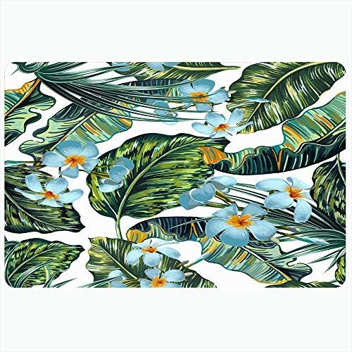 LIS HOME Indoor Bad Teppich für Badezimmer rutschfeste Matten Zierpalme Blumen Sommer Muster Botanische Insel Pflanze Mode Natur Dschungel Modische Bad Dusche Fußmatte Gummimatte