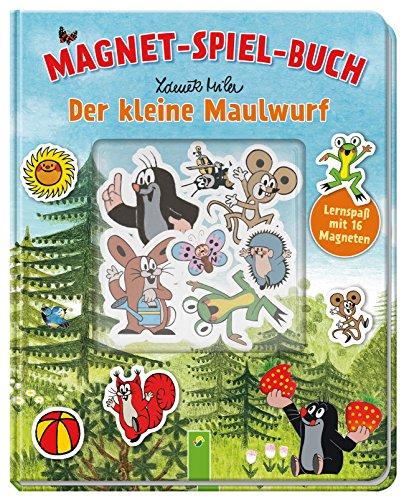 Der kleine Maulwurf -  Magnet-Spiel-Buch: Lernspaß mit 16 Magneten