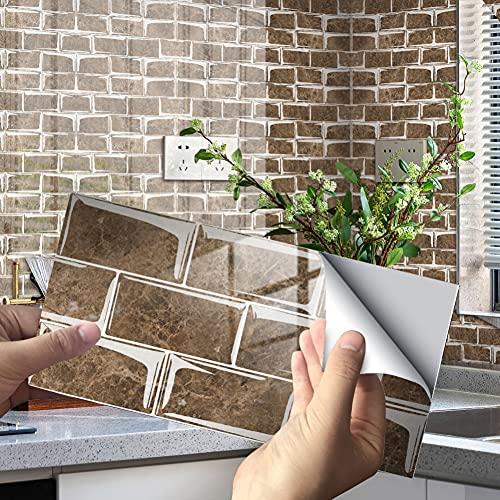 12/24 PCS Pegatinas de azulejos de película de cristal de lujo de...