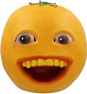 ifkoo Orange Mask Latex Head Mask Rubber Fruit Head Mask Halloween Novelty Costume Masks