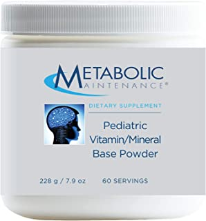 Metabolic Maintenance Pediatric Multivitamin Base Powder - Children's Vitamins with Active B Complex, Minerals - Clean Ing...