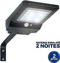 Refletor Luminária Solar Integrada Pública LED 400 Lúmens Placa Completa Ecoforce 40W