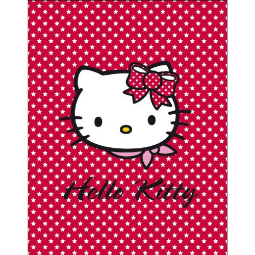 Manta Polar Hello Kitty Roja 130 X 160