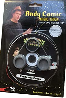 Andy Comic Fantastic Coins Magic Trick with DVD Instructions