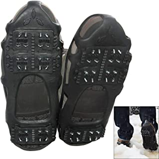 Ice Cleats Traction Cleats Ice Grip Snow Grippers Non-Slip Over Shoe Rubber Spikes Crampons Anti Slip Crampons Stretch Footwear