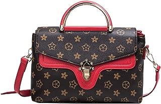 Women's Casual Waterproof PU Leather Tote Fashion Printing Shoulder Bag Messenger Handbags