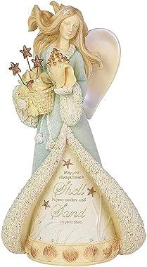 Enesco Heart of Christmas Coastal Seaside Angel Figurine, 8.07 Inch, Multicolor